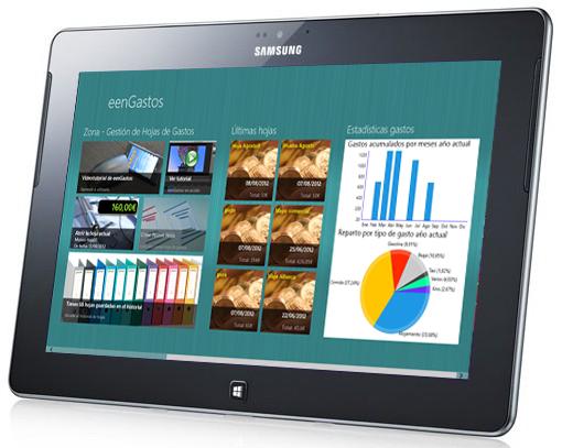 eenGastos en la nueva Ativ-Tab de Samsung