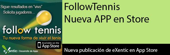 FollowTennis para iPhone